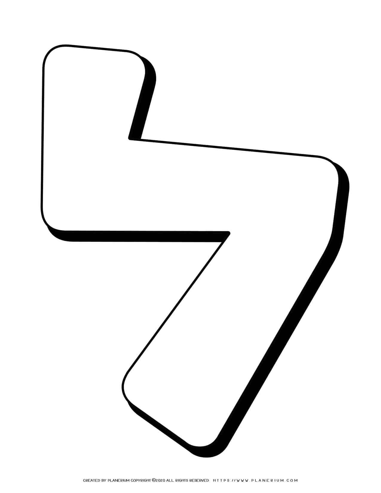 Hebrew Alphabet - Lamed - Coloring Page   Planerium