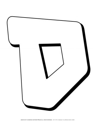 Hebrew Alphabet - Samech - Coloring Page | Planerium