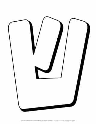 Hebrew Alphabet - Shin - Coloring Page | Planerium