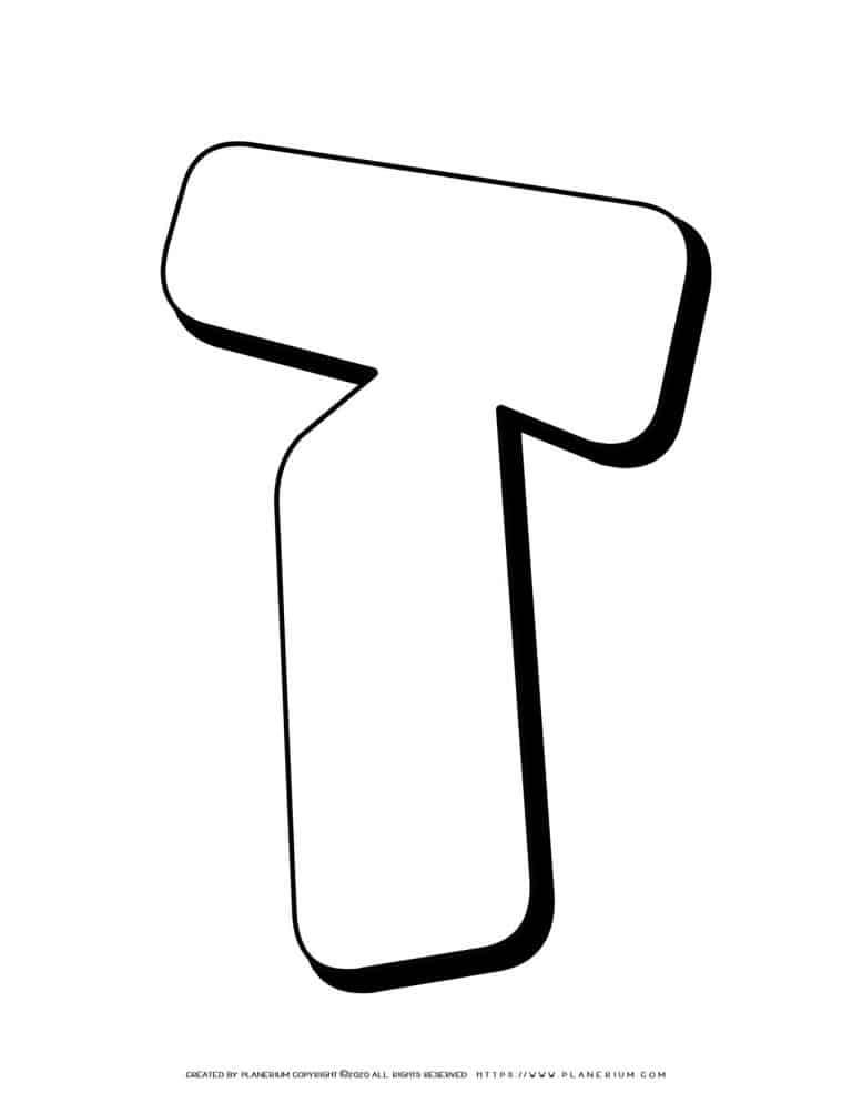 Alphabet Coloring Pages - Hebrew Letters - Zayin | Planerium