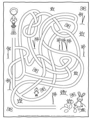 Maze Game - Easter Hunt | Planerium