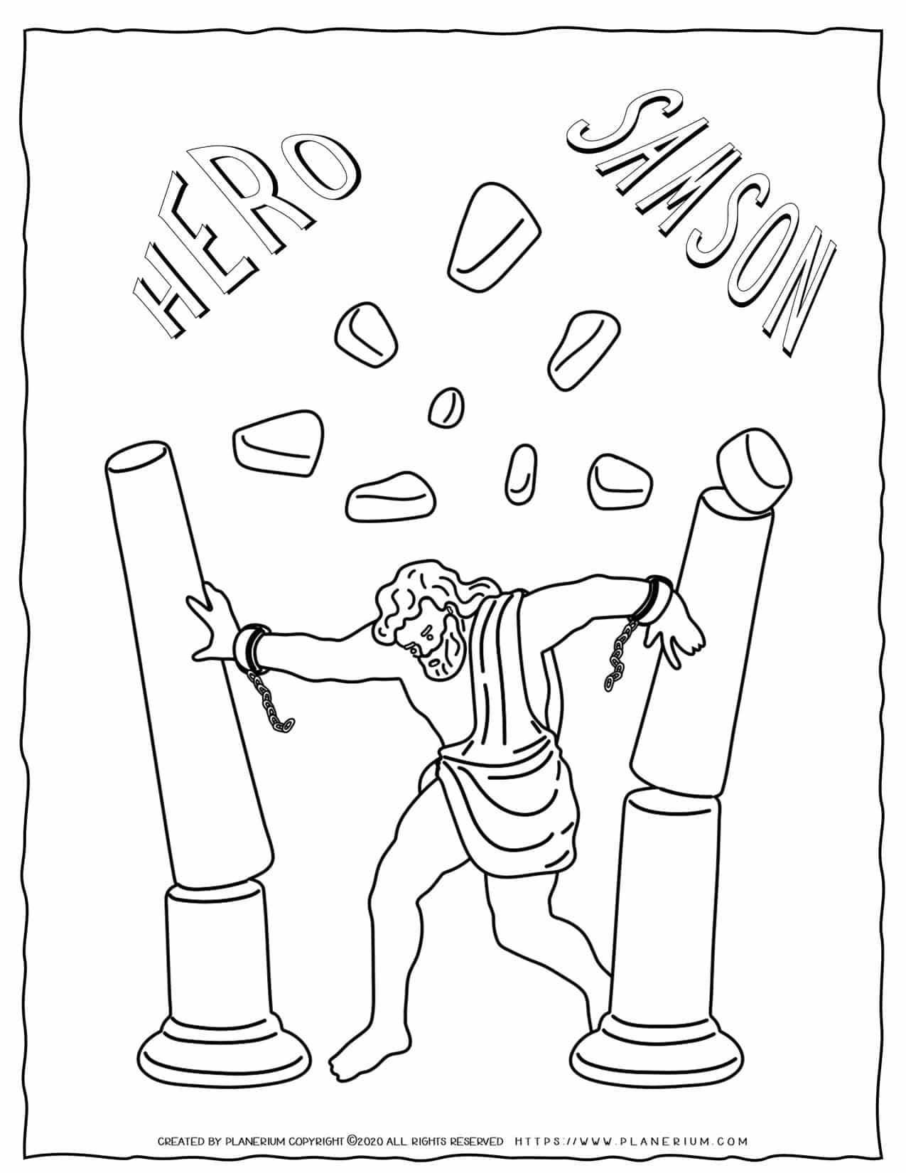 Samson - Bible Coloring Pages   Planerium