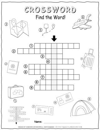 Travelling Crossword | Planerium