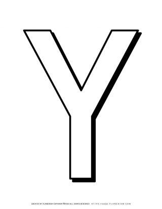 Alphabet Coloring Page - English Letter Y Capital | Planerium