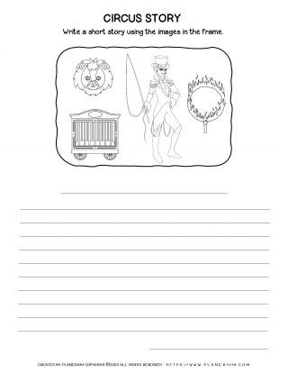 Circus Worksheet - Narrative Writing | Planerium