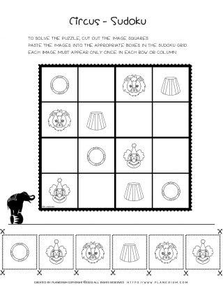 Circus Worksheet - Sudoku Puzzle | Planerium