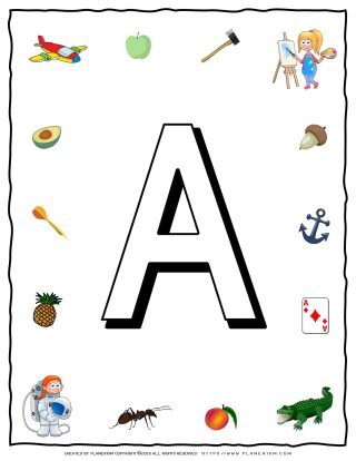 English Alphabet - Objects that starts with A | Planerium