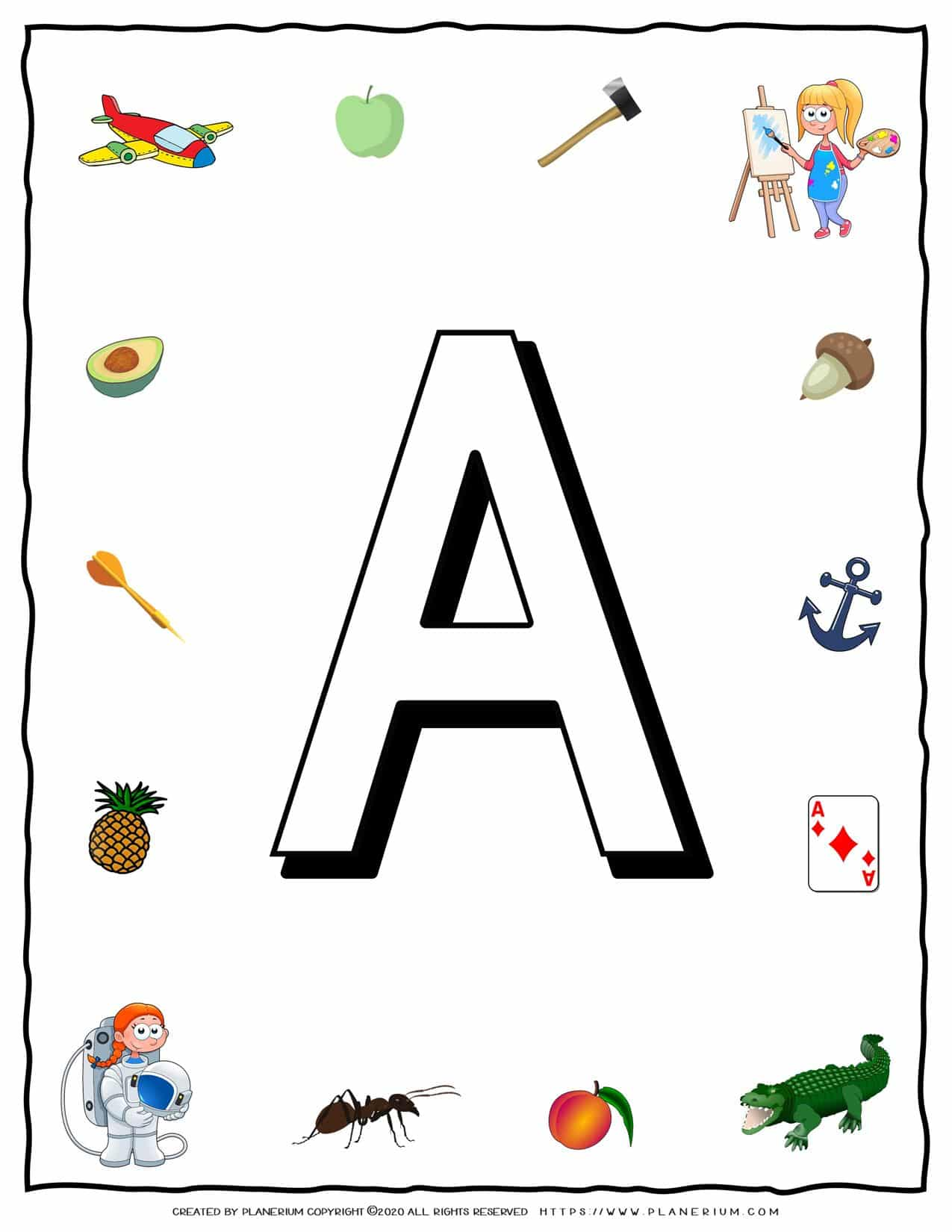 English Alphabet - Objects that starts with A   Planerium