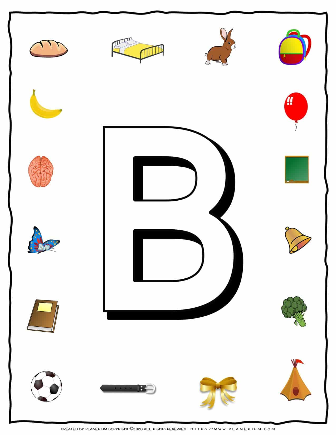 English Alphabet - Objects that starts with B   Planerium