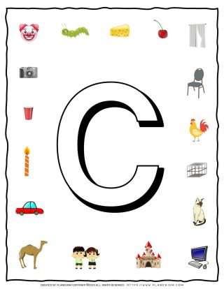 English Alphabet - Objects that starts with C | Planerium