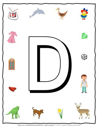 English Alphabet - Objects that starts with D | Planerium
