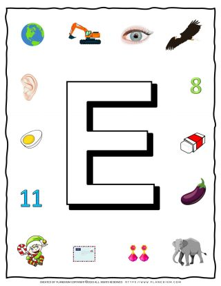 English Alphabet - Objects that starts with E | Planerium