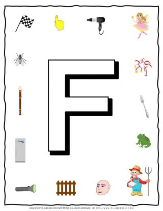 English Alphabet - Objects that starts with F | Planerium