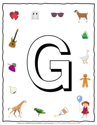 English Alphabet - Objects that starts with G | Planerium