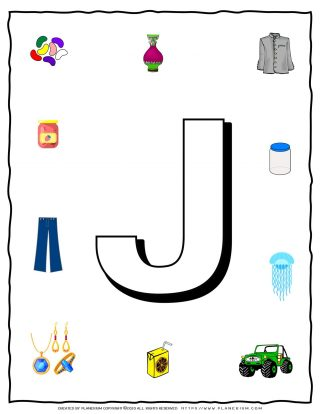 English Alphabet - Objects that starts with J | Planerium