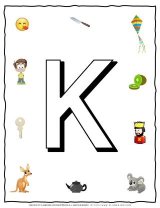 English Alphabet - Objects that starts with K | Planerium