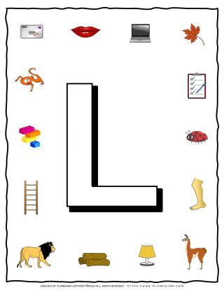 English Alphabet - Objects that starts with L | Planerium