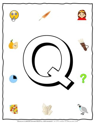 English Alphabet - Objects that starts with Q | Planerium