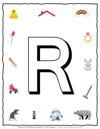 English Alphabet - Objects that starts with R | Planerium