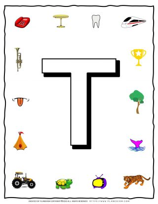 English Alphabet - Objects that starts with T | Planerium