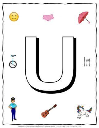 English Alphabet - Objects that starts with U | Planerium