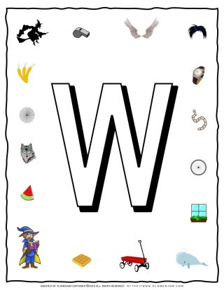 English Alphabet - Objects that starts with W | Planerium