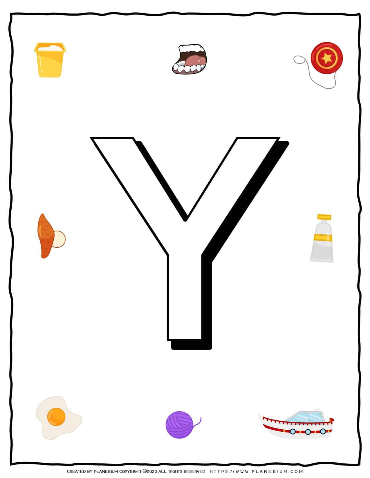 English Alphabet - Objects that starts with Y   Planerium