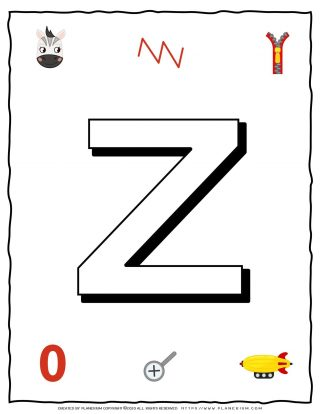 English Alphabet - Objects that starts with Z | Planerium