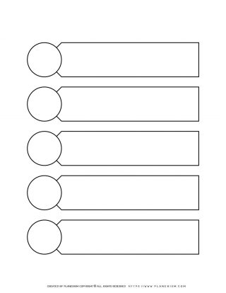 Graphic Organizer - Five Sections Chart with Circles Aside | Planerium