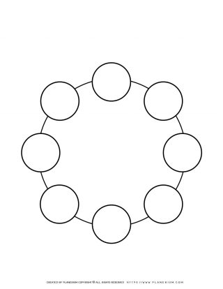 Sequence Chart Template - Eight Circles on a Circle | Planerium