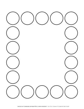 Sequence Chart Template - Eighteen Circles | Planerium