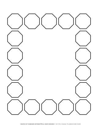 Sequence Chart Template - Eighteen Octagons | Planerium