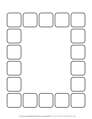 Sequence Chart Template - Eighteen Squares | Planerium