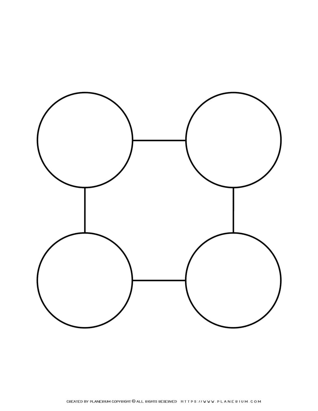 Sequence Chart Template - Four Circles on a Square   Planerium