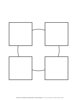 Sequence Chart Template - Four Squares on a Circle | Planerium