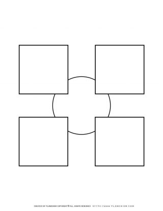 Sequence Chart Template - Four Squares on a Small Circle | Planerium