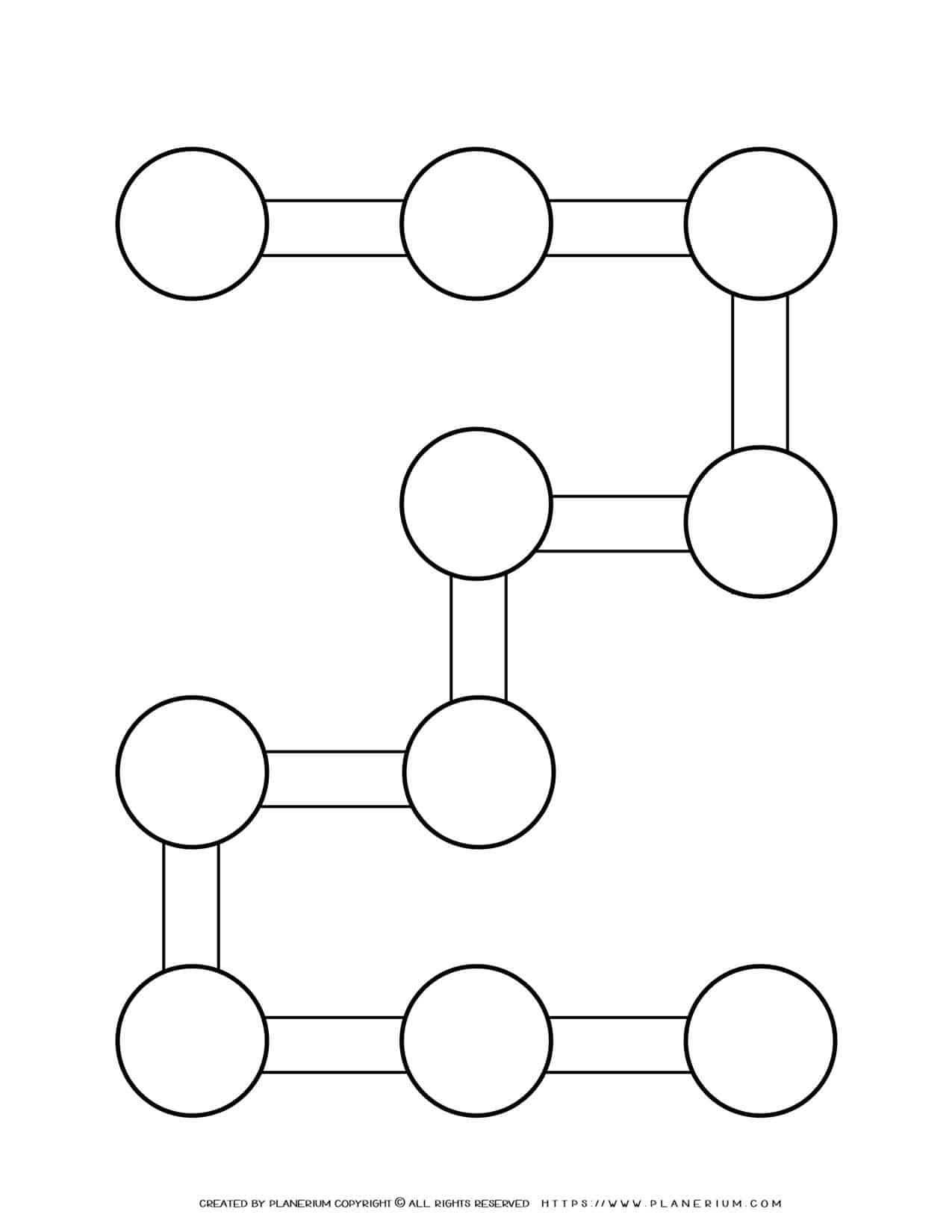 Sequence Chart Template - Ten Circles on 2 Shape | Planerium