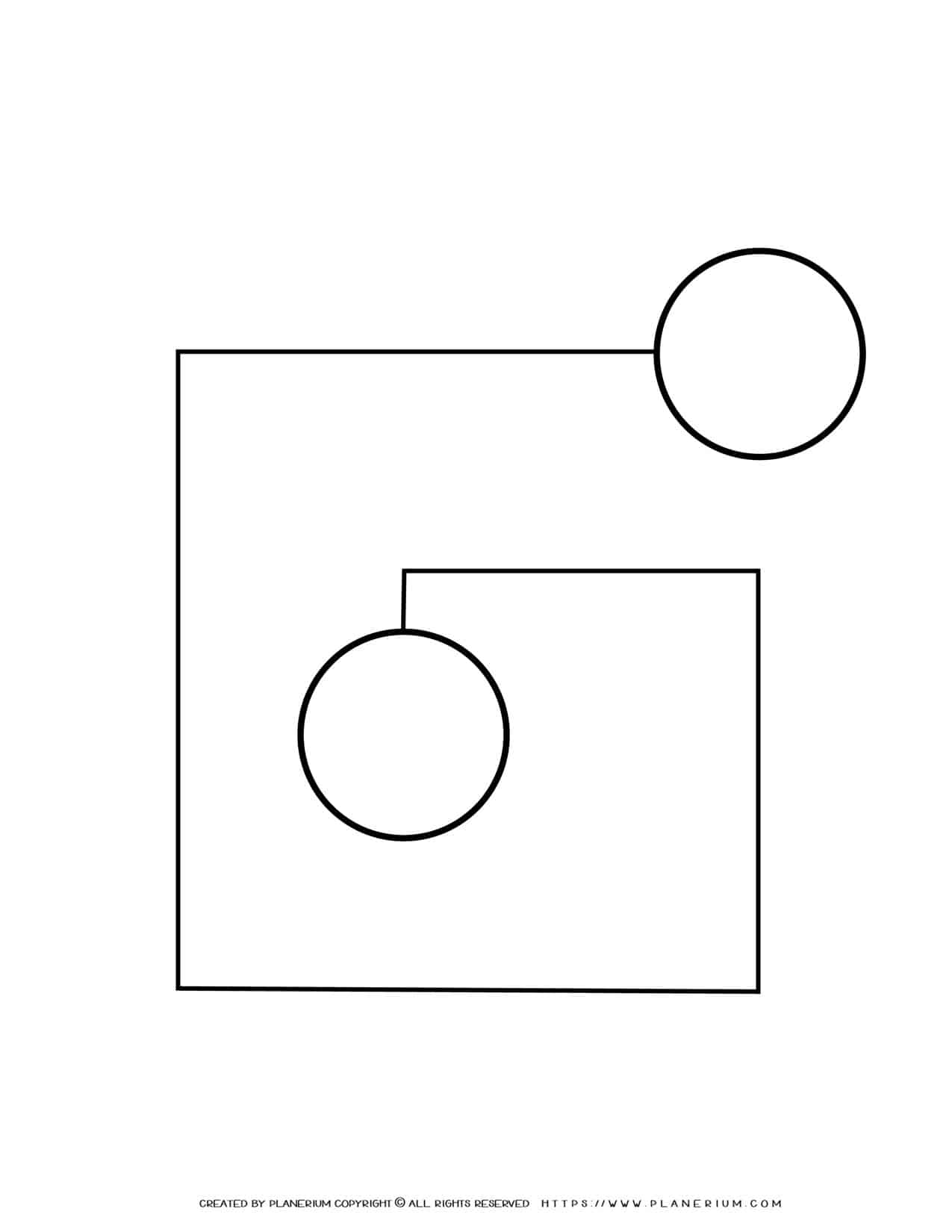 Sequence Chart Template - Two Circles on a Spiral Shape   Planerium