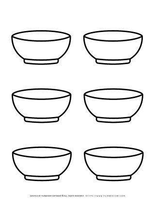 Six Bowls Template | Planerium