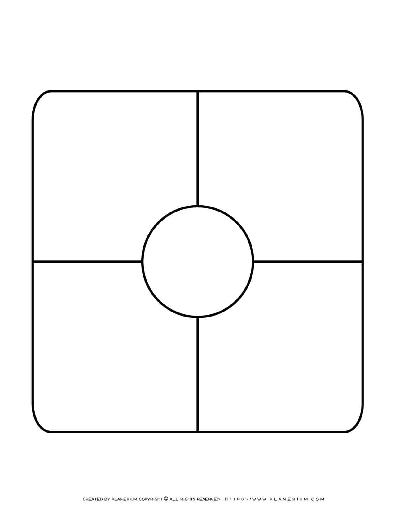 Story Map Template - Center Circle | Planerium