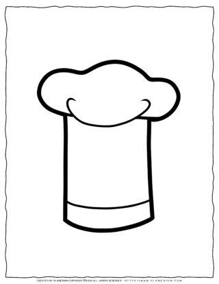 Clothes Coloring Page - Chef Hat | Planerium
