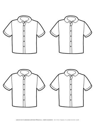 Clothes Template - Four Shirts | Planerium