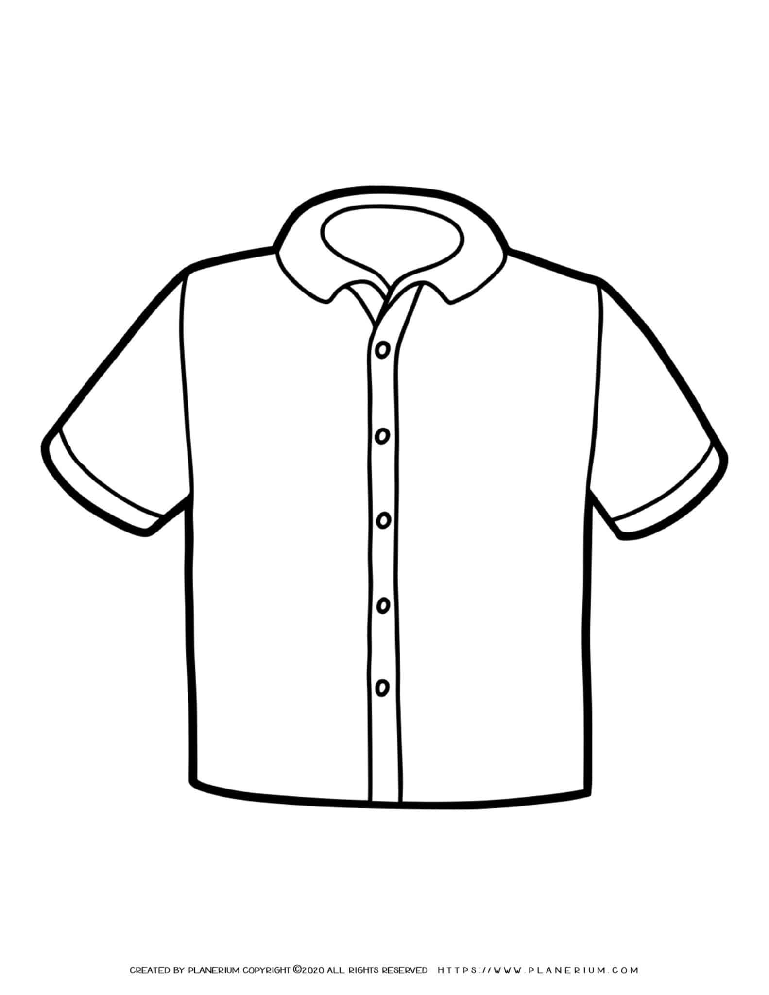 Clothes Template - Man Short Sleeve Shirt   Planerium