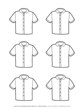 Clothes Template - Six Shirts | Planerium