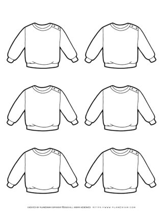 Clothes Template - Six Sweaters | Planerium