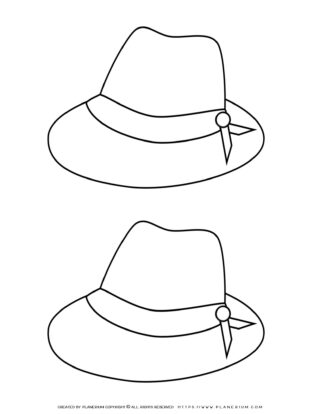 Clothes Template - Two Hats | Planerium