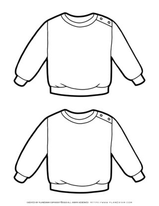Clothes Template - Two Sweaters | Planerium