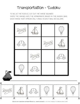 Transportation Game - Sudoku | Planerium
