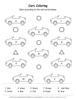 Transportation Worksheet - Color By Number | Planerium