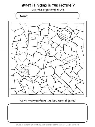 Back To School Worksheet - Find objects | Planerium